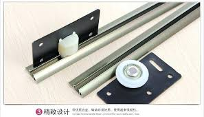 closet door track champagne sliding door sliding wheel and rail tank dual rail sliding door track