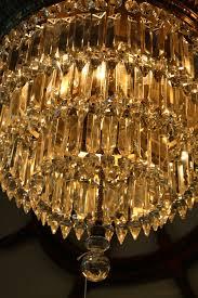antique czechoslovakian lead crystal chandelier for