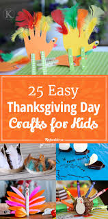25 Easy On Thanksgiving Day Crafts for Kids
