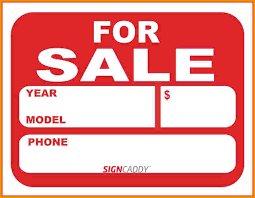 For Sale Sign On Car Vehicle For Sale Sign Template Free Printable Car April Onthemarch