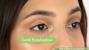 applying eyeshadow image led make brown eyes stand out step 1