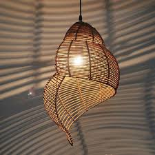 Pastoral Rattan <b>Snail Children'S Room</b> Pendant Lamps Creative ...