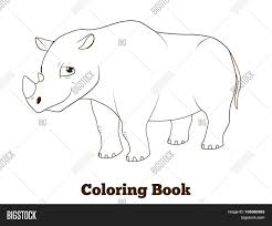 coloring book rhino african cartoon