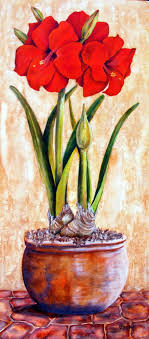 gallery of large size paintings amaryllis flowers