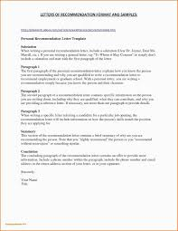 030 Business Letter Recommendation Template Docx New Format