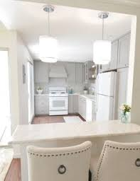 Small Picture gray white kitchen remodel with touches of wood centsationalgrl