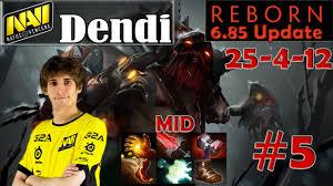 dendi epic build pudge midlane pro gameplay 25 4 dota 2 mmr