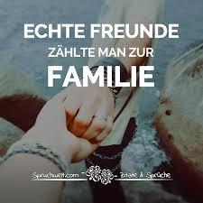 Echte Freunde Zählt Man Zur Familie