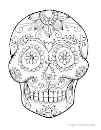Sugar Skull Coloring Pages Coloring Sugar Skulls Coloring Pages Free