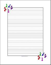 Music Writing Paper Writing Paper Music Upper Elementary Abcteach