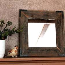 reclaimed wood wall mirror rustic framed r industrial dr reclaimed wood
