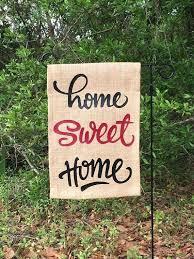 burlap garden flag home sweet housewarming gift flags diy for blank bulk