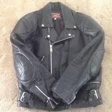 men s vintage leather motorbike jacket size 46