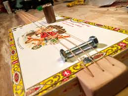 how to make a simple cigar box guitar metric included