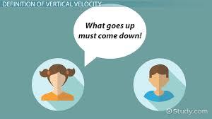 vertical velocity definition equation lesson transcript study com