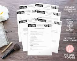 makeup artistry forms and contracts if127 instant you ll receive 7 psd files