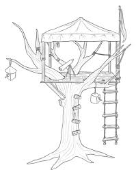 Tree House 16 Buildings And Architecture Printable Coloring Pages
