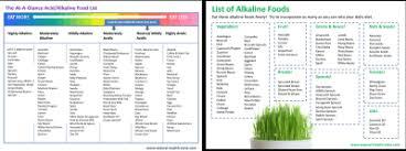 Alkaline Producing Foods Chart Alkaline Diet