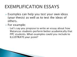 exemplification essay example how to write an essay for  exemplification essays exemplification essay example