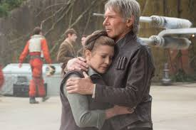 carrie fisher leia force awakens. Interesting Force Harrison Ford As Han Solo And Carrie Fisher General Leia Organa In Star  Wars To Force Awakens O