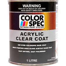 Colorspec Paint Acrylic Clear Coat 1 Litre Supercheap Auto Exterior Clear Coat Over Acrylic Paint