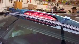 Third Brake Light Repair How To Change The Rear 3rd Brake Light On Mini Cooper With Spoiler