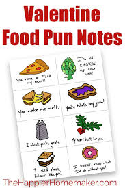 Valentines day card messages for kids. Food Pun Valentine S Day Notes Free Printable Valentines
