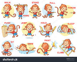 clipart of action words clipartfest the verb signals an action