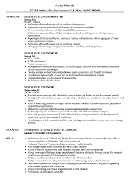 Civil Engineer Resume Sample Senior Civil Engineer Resume Samples Velvet Jobs 4