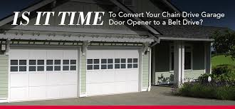is it time to convert your chain drive garage door opener to a belt drive