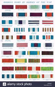 Af Medals And Ribbons Chart Chart Of Ww1 Ribbons Stock Photo 152115875 Alamy