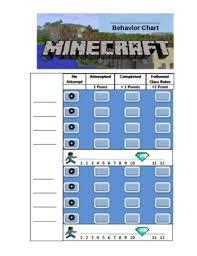 Minecraft Sticker Chart Minecraft Behavior Chart Editable