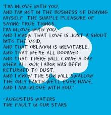 Quotes From The Fault In Our Stars Unique The Fault In Our Stars Augustus The Babe On We Heart It