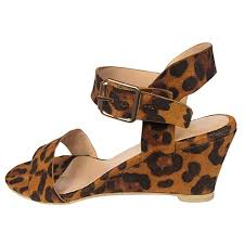 Amazon Com Womens Wedges Leopard Sandals Ndgda Ladies