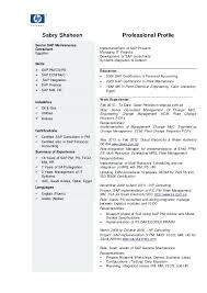 Sample Sap Resume Sap Consultant Resume Best Sample Senior Sap
