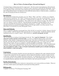 How To Write A Formal Lab Report Lab Report Lab Report