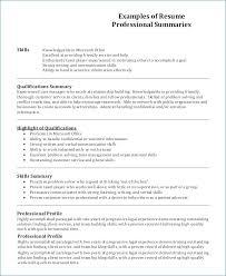 Resume Profile Summary Amazing 4413 Profile Summary Of Resume Generalresumeorg
