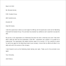 Promotion Thank You Letter Best Letters 7 Note Sales Format Examples
