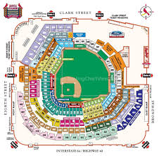 Busch Stadium St Louis Mo Seating Chart View