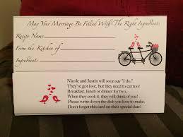 Recipe Card For Bridal Shower Cute Poem Bridal Shower Bridal