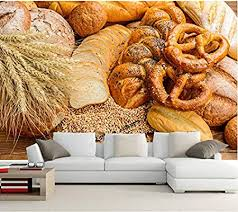 Wapel Custom Photo 3d Muralbaking Bread Buns Ear Botany Food
