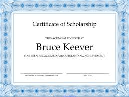 scholarship templates 5 plus scholarship award certificate examples for word and pdf
