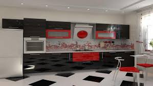 Red Gloss Kitchen Cabinets Fascinating Purple Kitchen Ideas With High Gloss Kitchen Cabinets