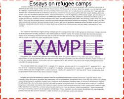 essays on refugee camps research paper service essays on refugee camps