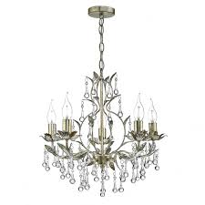 laquila crystal chandelier in antique gold and silver finish laq0535