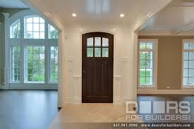 Classic French Solid Wood Front Entry Door Clear Beveled Glass - Custom wood exterior doors
