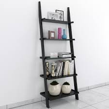 jasper leaning wall bookcase ladder