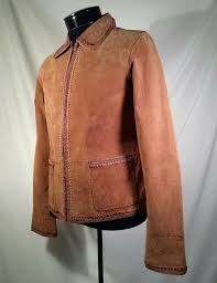 details about nwt christopher banks washable suede leather jacket brown women s size small
