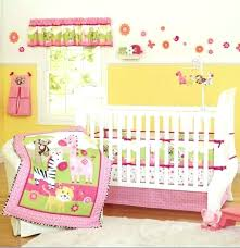 crib bedding set with per pink zebra giraffe animals girl baby crib bedding set cot kit
