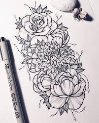 новости женские эскизы эскиз тату татуировка цветы и тату